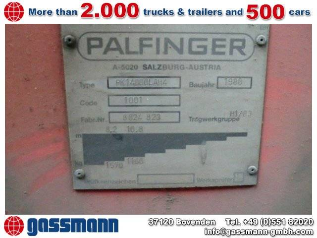 Palfinger PK 14000LAH4  Hochsitz - 1988