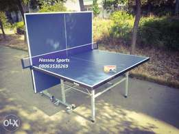 Indoor Table Tennis Table with Rollers