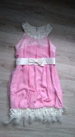 99054189b3 Sukienka bombka weselna piórka Różowa sukienka Sukienka na wesele Poraj -  image 7