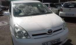 Toyota Verso 1.6 Model 2008 Colour White 5 Door Factory A/C&MP3 Player