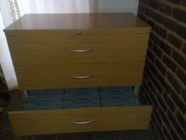 3 Drawer Oak Filing Cabinet