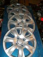 "Hyundai Original 14"" Hubcaps Full Set of 4"