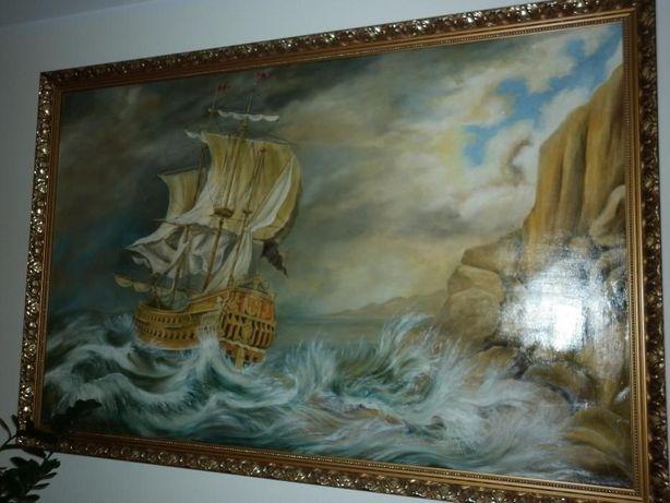 Wybitny Obraz statek na morzu Konin • OLX.pl JW99