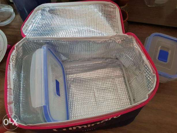 4 glass storage container with bag
