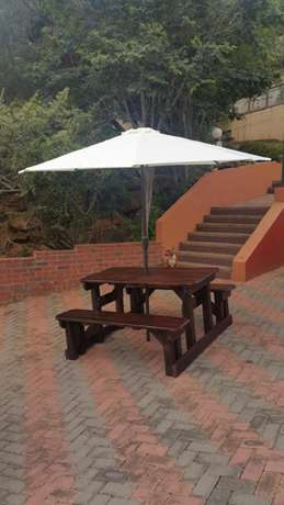 Quality wooden patio pub shebeen benches Roodepoort - image 3