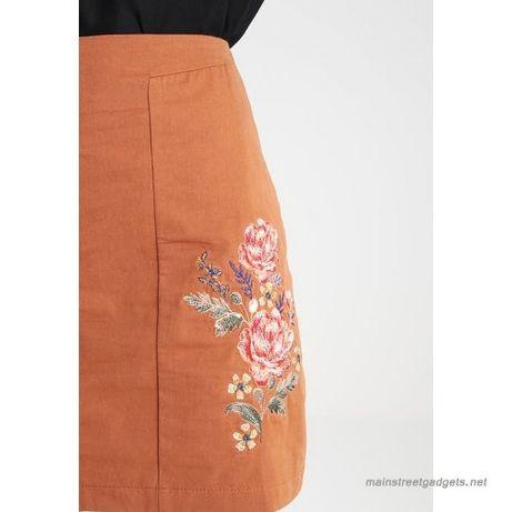 New look spódnica 40 L haft haftowane kwiaty Floral