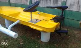 small boat with motor