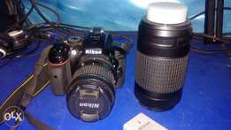 nikon D5300 with lense and extra batteries