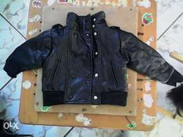 Babies leather jacket