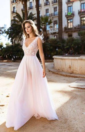 Suknia ślubna Tom Sebastien Model Rosa Bez Piórek Na Ramionach 2018