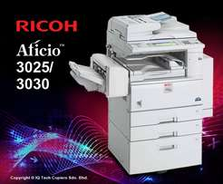 Ricoh aficio 3030 fully equipped with printer duplex and ADF high spee