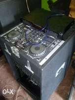 mixer plus two big powerful speakers