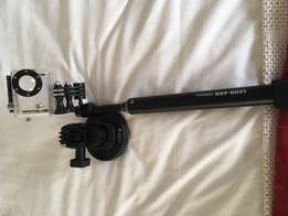 GoPro arm extension and suction cup