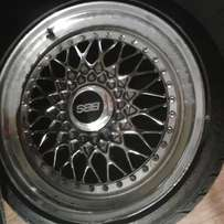 4 BBS with new tyres and in good condition with no damage