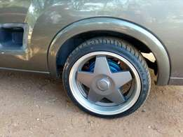 """17""""Borbets + brand new tyres to swap for 15"""" mags + tyres"""