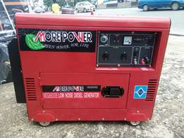 6.5 kva More Power Diesel sounds proof Generator set.