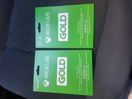 Xbox gold 12 month subscription Xbox 360 or xbox one gold membership