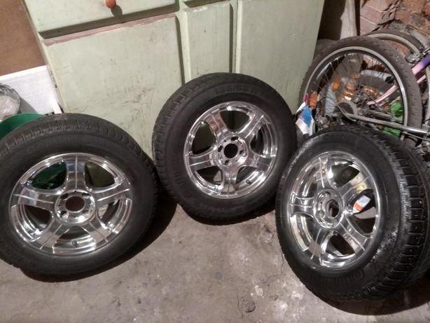 Felgi Aluminiowe Polerowane Felgi Aluminiowe Z Oponami R 14 Cali