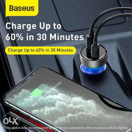 Baseus Car Charger 65W with Digital Display for all Mobile حولي -  4