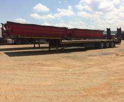 2011 Lowbed trailer with ramps