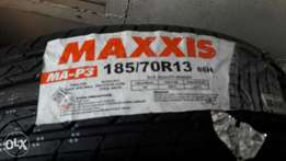 185/70R13 brand new Maxxis tyres tubeles.