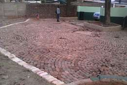 building works and paving