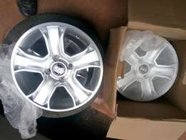Alloy Rims and two tyres