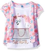 Universal Toddler Girls' 2 Piece Knit Pullover Tee - 1-3 Years