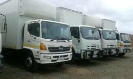 2ton 3ton 4ton 8ton and 16ton enclosed trucks for removals and hire