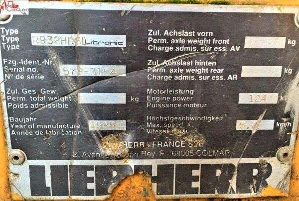 Liebherr 932 - 1996 - image 3