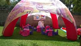 Themed kids party setup, balloon decor, balloon modelling,clown hire