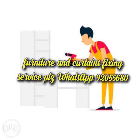Carpenter and curtains fixing services