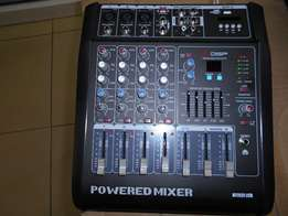5 Channel professional powered mixer