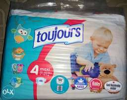 Toujours Size 4 Diapers (7 - 18 kg) 48 Count