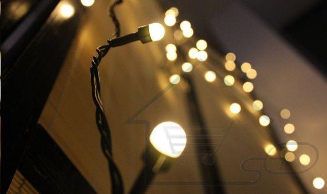 Lampki świąteczne Dekoracyjne 200 Led Ciepły Biały