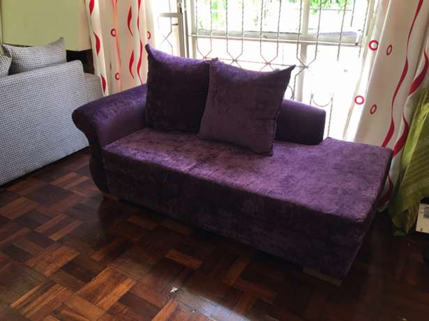 Divan; Classic; 3seater; royal purple; elegant; unisex; as new. Kyuna - image 4