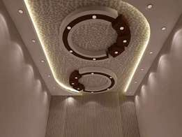 Gypsum ceiling design and installation