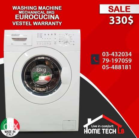 W.M eurocucina 8kg mechanical made in Italy by vestel