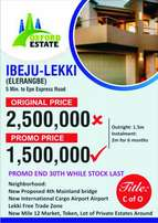 Invest In Oxford Estate Located Elerangbe At Ibeju Lekki Hurry Now.