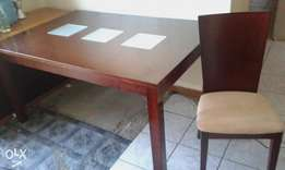 Dinning Table and 8 chairs for sale