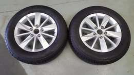 VW Polo 6 new 15'' Alloy mag with tyre for SALE!!