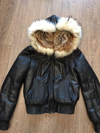 Продам тёплую кожаную куртку с подкладкой из меха Одесса - изображение 1 7a8811f7a9c58