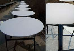 Round folding table for home, business premises and events for sale