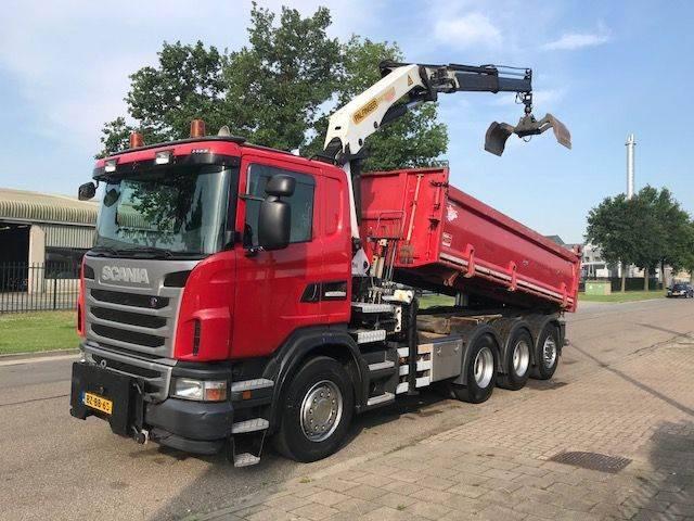 Scania G 400 B 8x4*4 (tridem) Kipper / Kraan - 2011
