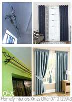 Curtain Rods, curtains and mosquito nets