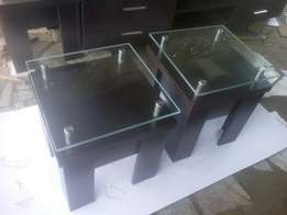 Side STOOL glass top.