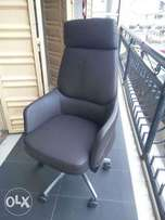 Executive reclining coffee brown chair
