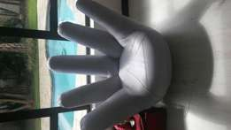 Leather hand seat