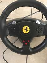2 Thrustmaster Ferrari Challenge Racing Wheel with Pedals (PS3 and PC)