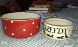 Great Large and Small Dog Bowls Dishwater safe and Fun